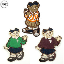 Bear Patch on Clothes Iron Patches for Clothing Children Cartoon Embroidered Stripe Patchwork Accessories Stickers On