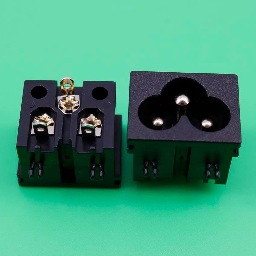 1 Pcs 250V 2.5A 3 Pins IEC320 C6 Male Plug AC Power Inlet Socket