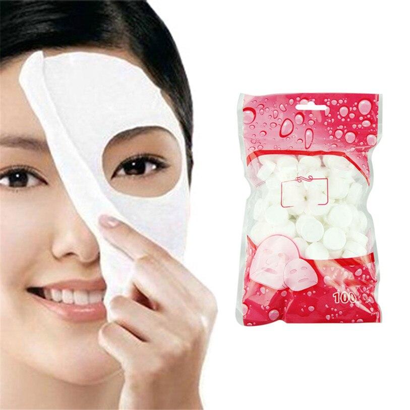 2017 Visage Masque NEW100pcs Soins de La Peau DIY Visage Visage Comprimé Masque Soin Masque Papier Tablet ap27dropship