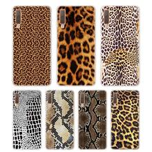 Silicone Phone Case 2018 Leopard print Printing for Samsung Galaxy A8S A9 A8 Star A7 A6 A5 A3 Plus 2017 2016 Cover