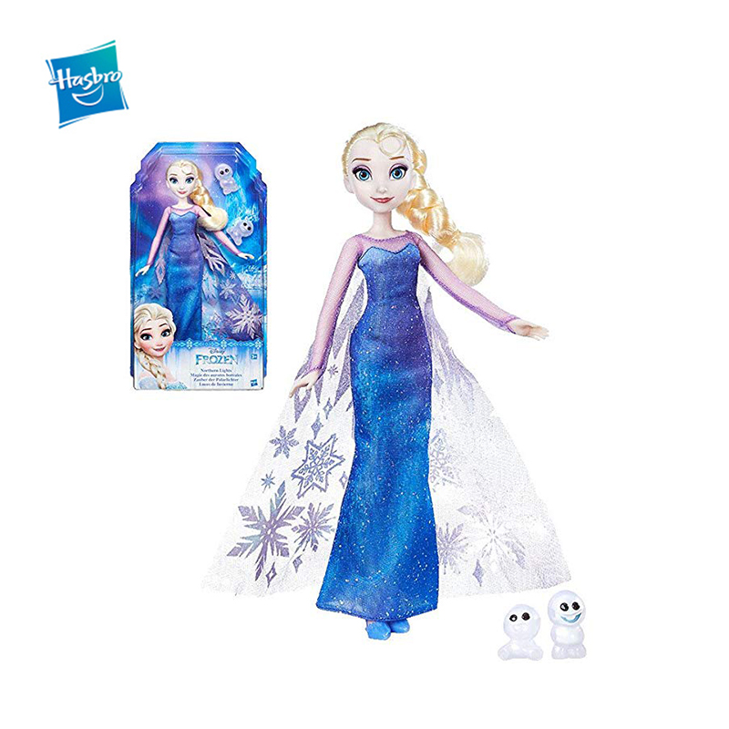 Hasbro Frozen Disney Princess Arctic Light Series Fashion Elsa Anna Action Figure Toy Classic Movie Model Doll Christmas Gift hasbro transformers genuine movie series mb 13 broken bone boy toy