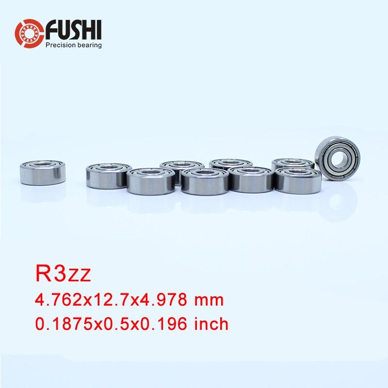"""R3ZZ Lager ABEC-1 (10 PCS) 3/16 """"x1/2"""" x 0.196 """"inch Miniatuur R3 ZZ Kogellagers R3Z Voor RC Modellen"""