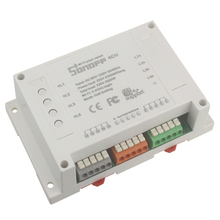 Sonoff 4CH 4 channel smart wifi switch din rail mounting wireless switch smart home control 4