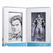 Hot Sale  Limited Edition Jim Lee Sketch DC Comic Blueline Classic Super Hero Superman Action Figure 100% original bandai tamashii nation s h monsterarts shm action figure godzilla 2017 first press limited edition