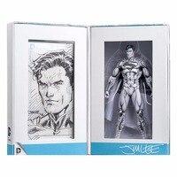Hot Sale Limited Edition Jim Lee Sketch DC Comic Blueline Classic Super Hero Superman Action Figure