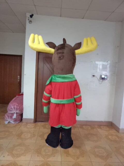 2017 Hot sle Free shipping high quality Christmas deer mascot Christmas deer mascot costume
