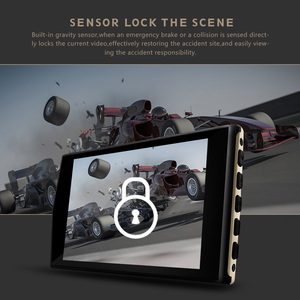 "Image 5 - 4.0"" Car Dash Cam Full HD 1080P 170 Degree Video Recorder Dual Lens Vehicle Camera Car DVR with Rear View G sensor Night Vision"