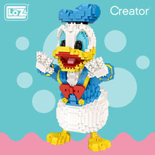 LOZ mikro blokları sevimli karikatür hayvan aksiyon figürü Anime elmas yapı taşları plastik montaj oyuncaklar çocuklar için eğitim 9038