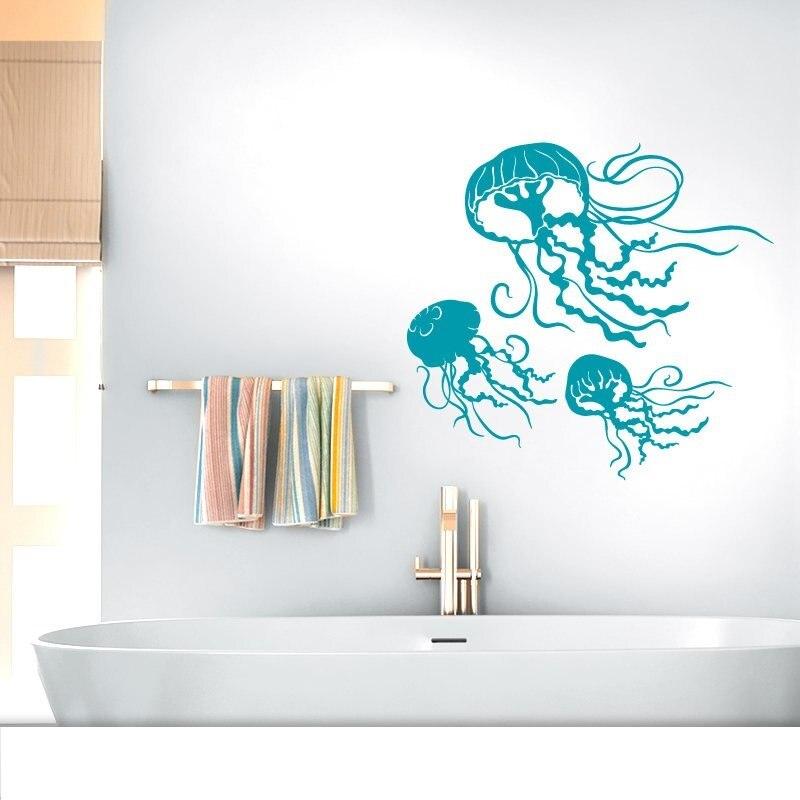 Mariene leven kwallen vinyl muurstickers kinderkamer woonkamer badkamer nautische woondecoratie afneembare art behang muurschildering YS20