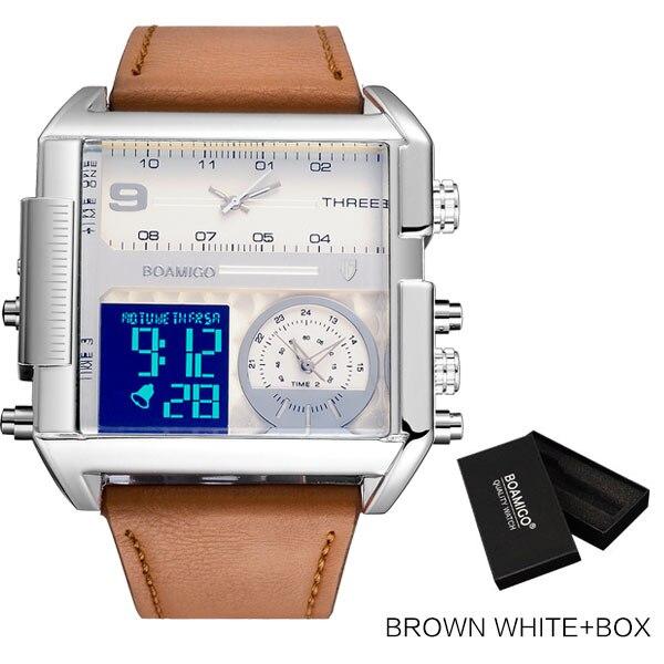 new brown white box