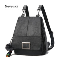 NEVENKA Brand Women Backpack Women S Casual Shoulder Bag Lady Fashion Solid Color Backpacks Female Simple
