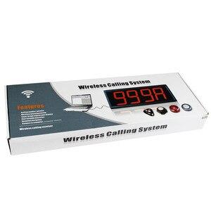 Image 5 - Receptor receptor de pantalla Retekess con Control de PC + botón de llamada 10 T117 sistema de llamadas inalámbrico restaurante paginación servicio al cliente