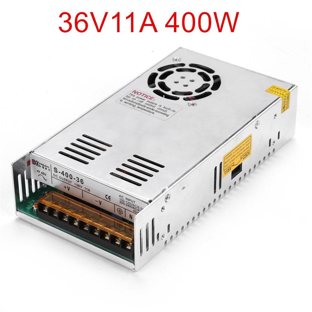 1PCS 400W 36V power supply 36V11A LED Driver 36V 11A power supply 400W S-400-36 90-264VAC INPUT 400w s400w 36v 11a led switching power supply 36v 11a 85 265ac input ce rosh power suply 36v output