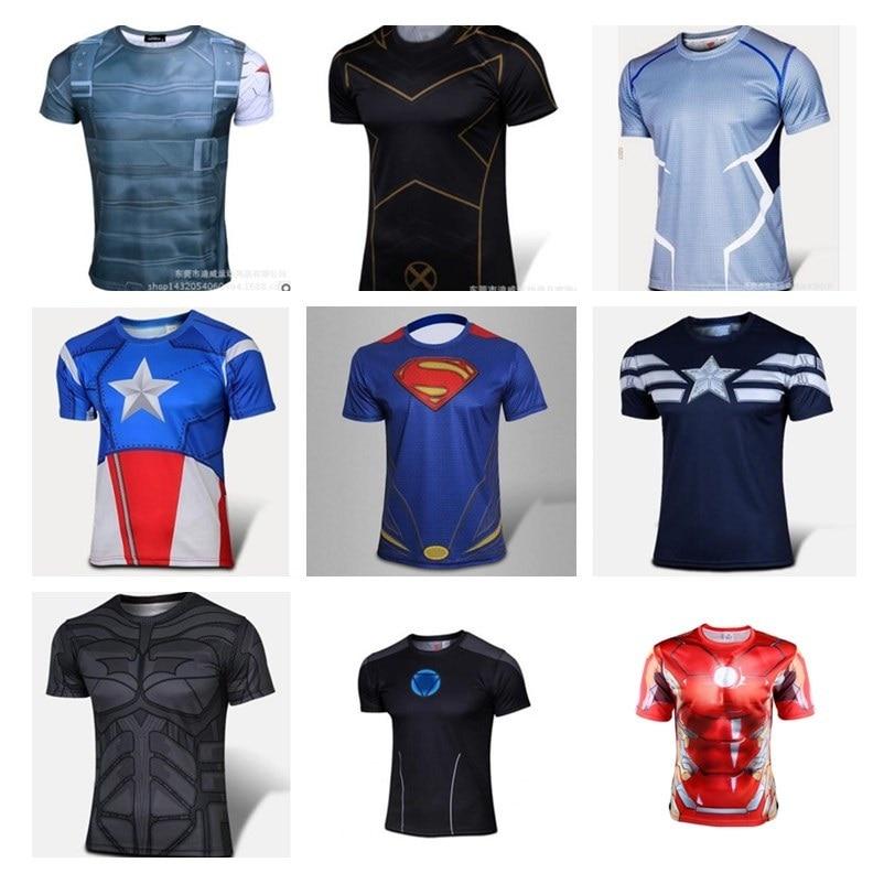 3d t shirt men short sleeve T-shirt fashion avenger heroes Compression shirt batman iron man,captain America/winter soldiers