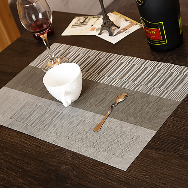 4Pcs Retro Adiabatic Placemat Mat Heat Stain Protector Dining Table Mat Decor