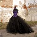 Formal Partido Saias Faldas Faldas Del Tutú de Tul Jupe Femme Gótico Das Mulheres Faldas Faldas Maxi Falda de un Adulto Con El Tren 2017 Jupe