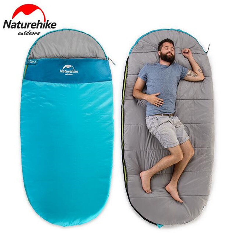 Naturehike Outdoor Inflatable Sleeping Bag Multifuntional Camping Sleeping Bag Winter Envelope Hooded Travelling Sleeping Bags стоимость