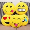 Casa Decorativo Sofa Travesseiro Emoji Almofada Brinquedo de Pelúcia Rodada