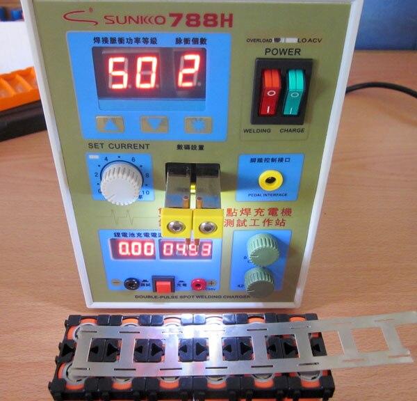SUNKKO New upgrade LED lighting 788H double pulse precision 18650 Spot Welder Battery Welder 788h 220v