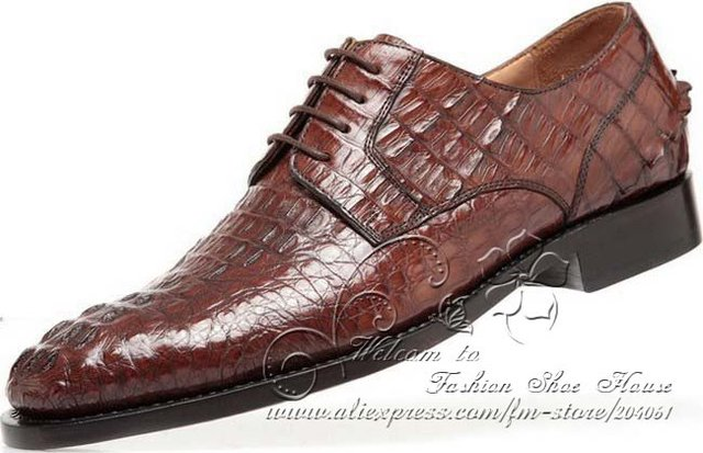 Fashion Alligator Low-Cut Men's Oxfords factory outlet online pay with paypal cheap online Tb1ru