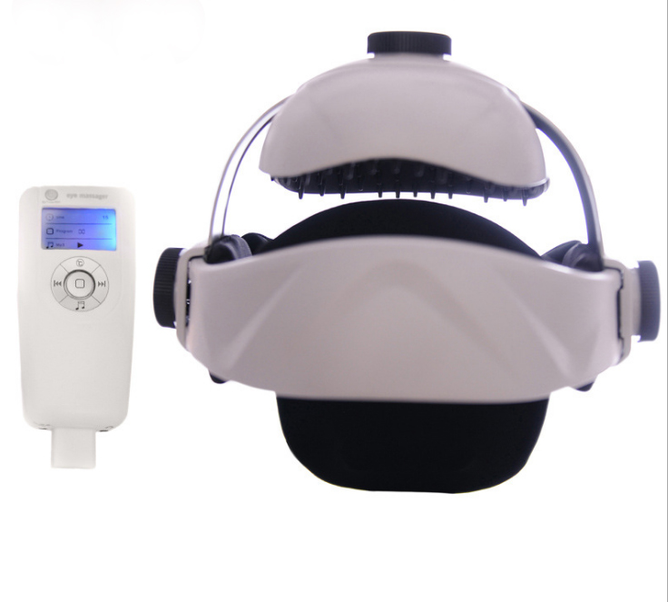 Electric Head Massager Multifunction Air Pressure Vibration Finger Press Relaxation Massage Helmet Type Massager Health Care