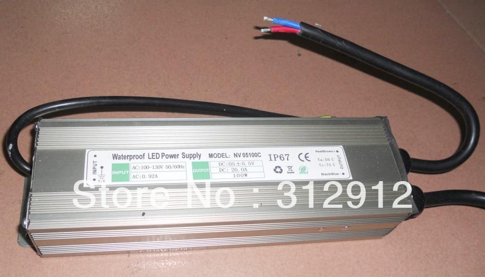 5V/100W waterproof led power supply;110V/220 input;IP68;CE and ROHS цена