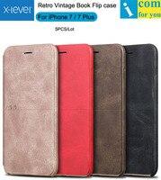 Wholesale 5PCS Lot X Level Extreme Flip Leather Cover Case For IPhone 7 Plus X Level