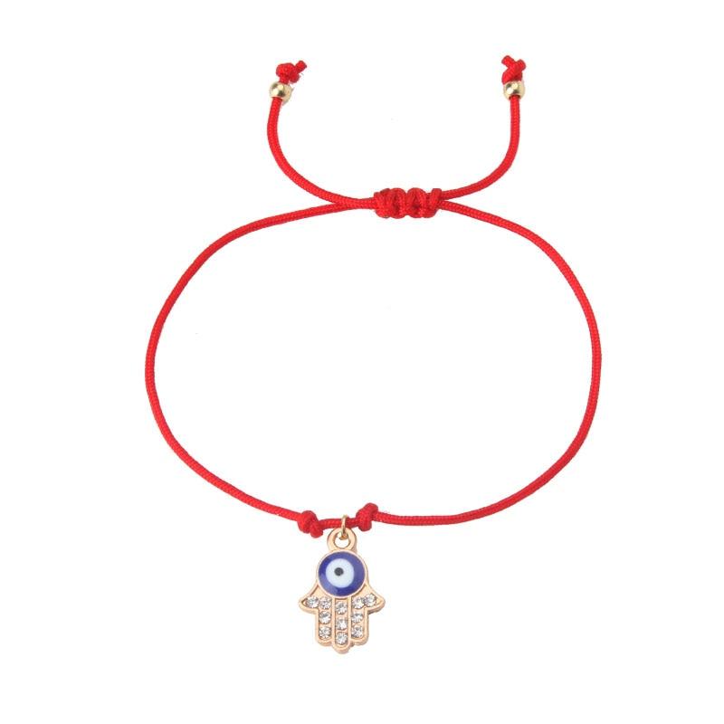 EVIL EYE 1pc new Hand woven red string bracelet trendy Rope chain palm/Rabbit,/butterfly/bead charm eye red bracelet for woman bead