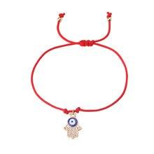 EVIL EYE 1pc new Hand woven red string bracelet trendy Rope chain palm/Rabbit,/butterfly/bead charm eye red bracelet for woman