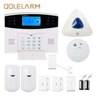 433 MHz LCD Display Home Alarm System Wireless Gsm Smoke Detector Indoor Wireless Strobe Siren Alarm