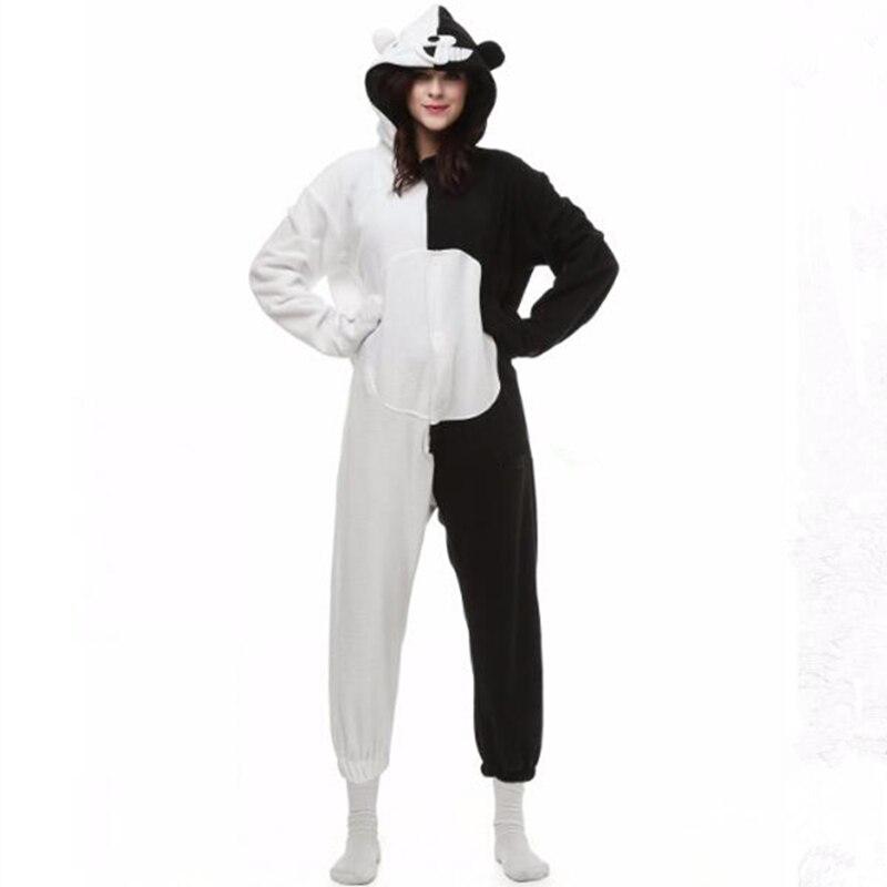 Trigger Happy Havoc Monokuma Bear Pajamas Cosplay Costume Jumpsuit Danganronpa