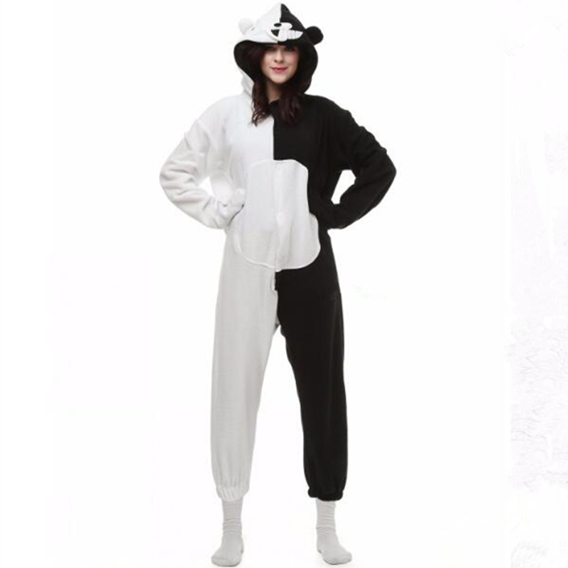 Danganronpa Dangan Ronpa Monokuma Monomi Bear Fleece Onesie Pyjama Costume Halloween Car ...