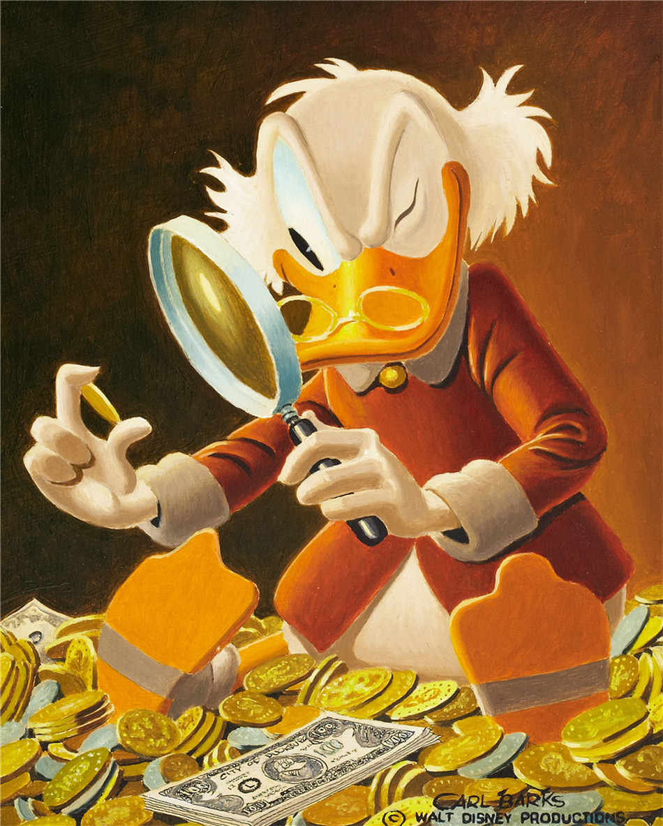 Scrooge McDuck HD Canvas Print Painting Artwork Modern Home Wall Decor Painting Canvas Art HD Picture on Canvas Prints #24