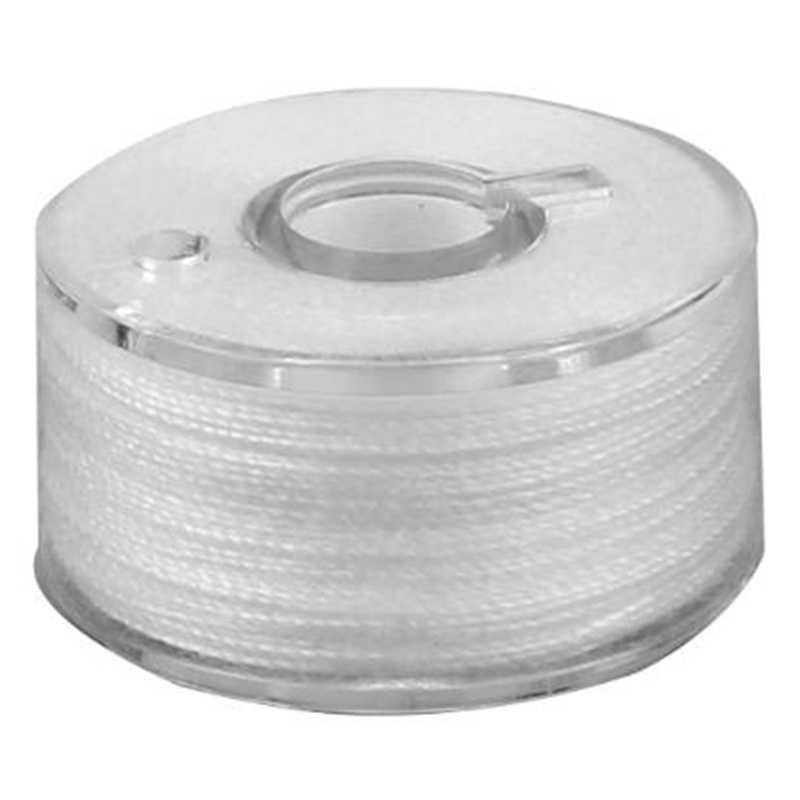 25 グリッドスプールホワイトミシン糸プラスチックボビンミシン糸刺繍クラフトパッチミシンアクセサリー