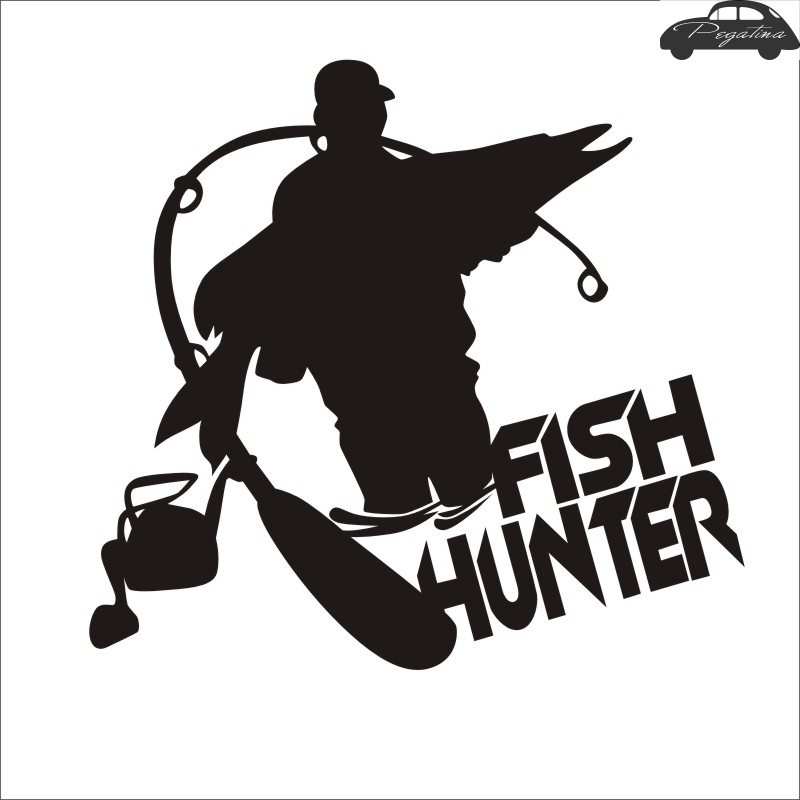 Fishing Hunter Fishing Car Boat Sticker Fish Decal Posters Wall Decals Pegatina Decor MuralFisher Sticker