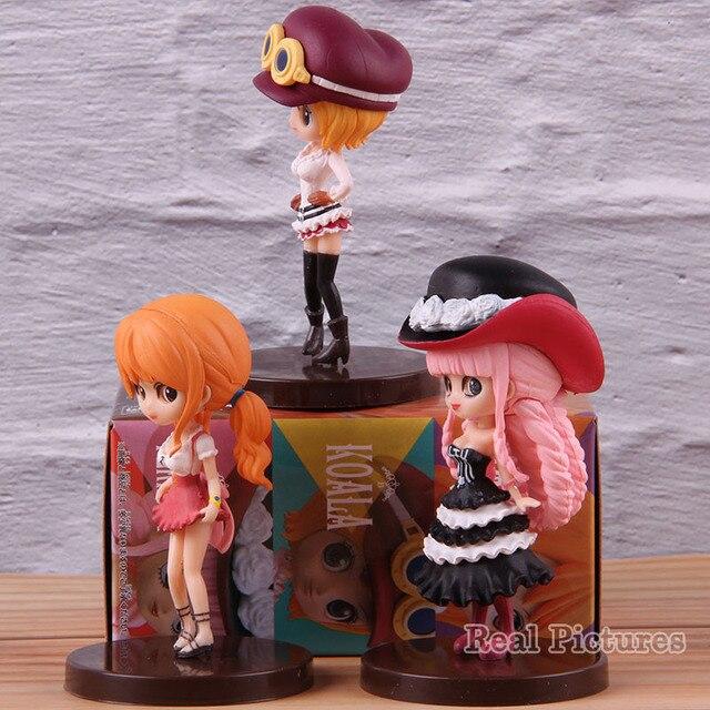 Q Posket jouets chauds Anime une pièce Nami Koala Perhona figurine daction Collection modèle jouet 3 pièces/ensemble