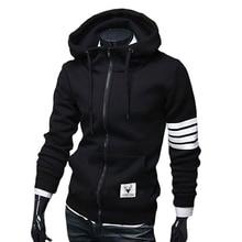 2017 Hoodie Zipper Gradient Cardigan Hoodies Men Fashion Tracksuit Male Sweatshirt Hoody Mens Purpose Large Size 4XL