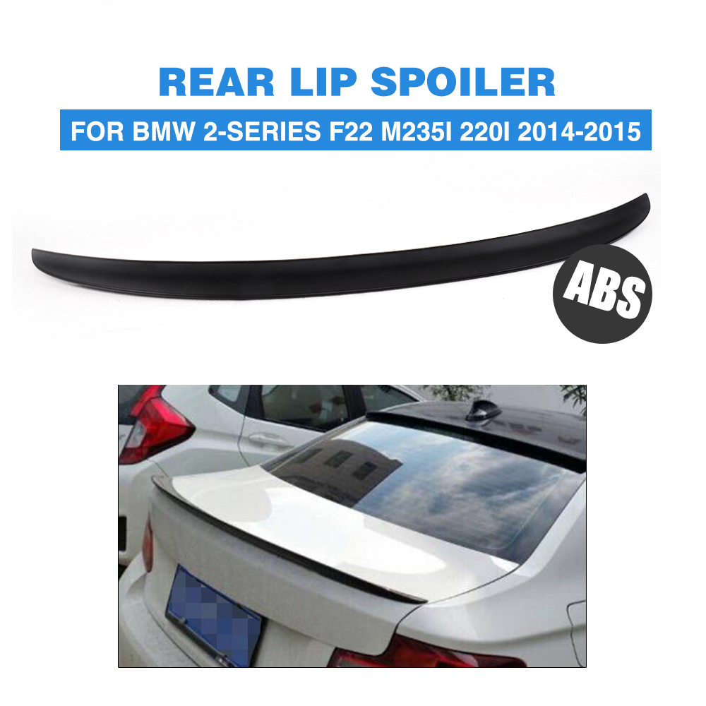 ABS Black car Rear trunk Spoiler Boot Sticker Wing for BMW 2 series F22 M253I 220I 2014 2015 Car Accessories