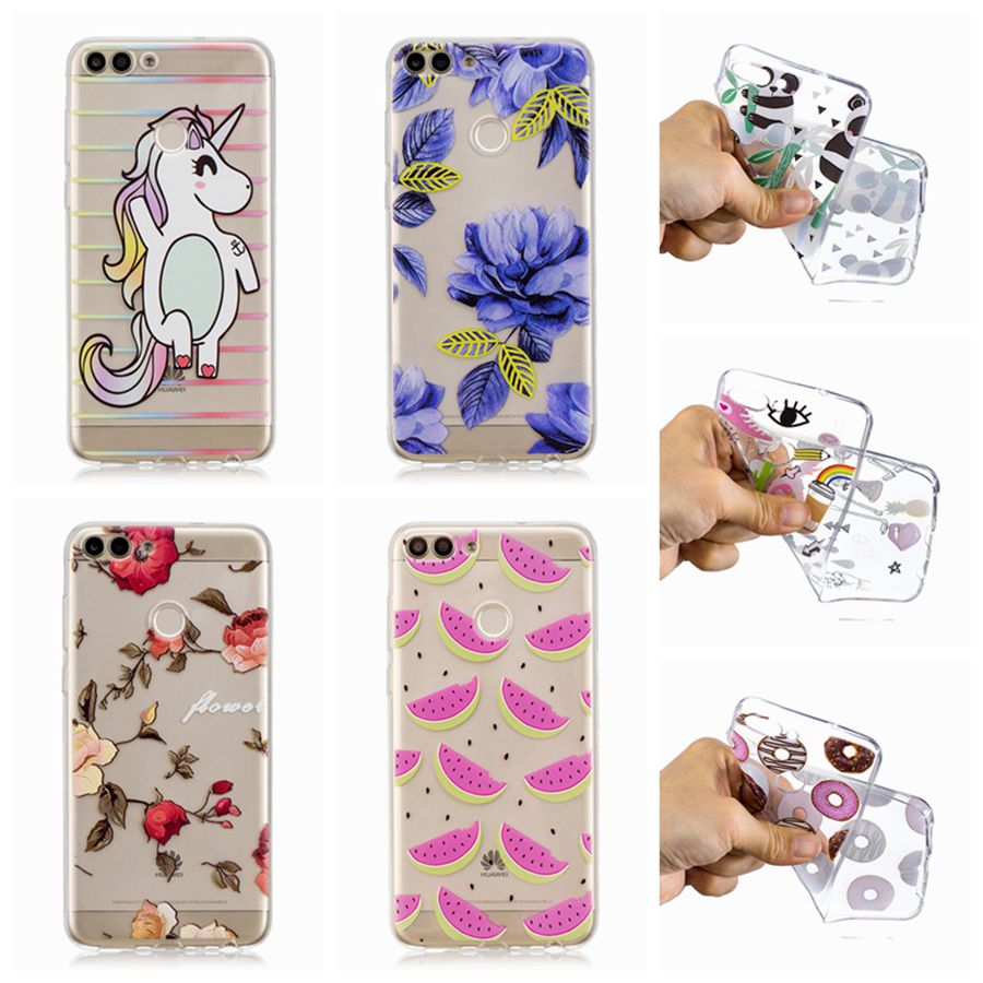 TPU Case For Huawei P smart Enjoy 7S Silicone Phone Cover For Huawei Enjoy 7s Print Pain ...