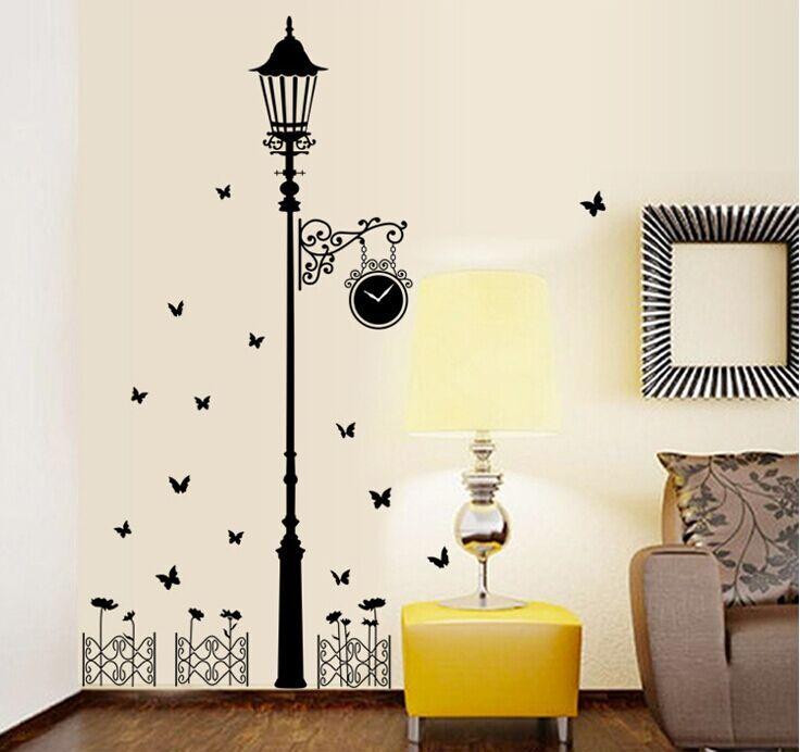 extrable estilo moderno y minimalista luces negras mariposa pegatinas de pared sala dormitorio pegatinas de pared