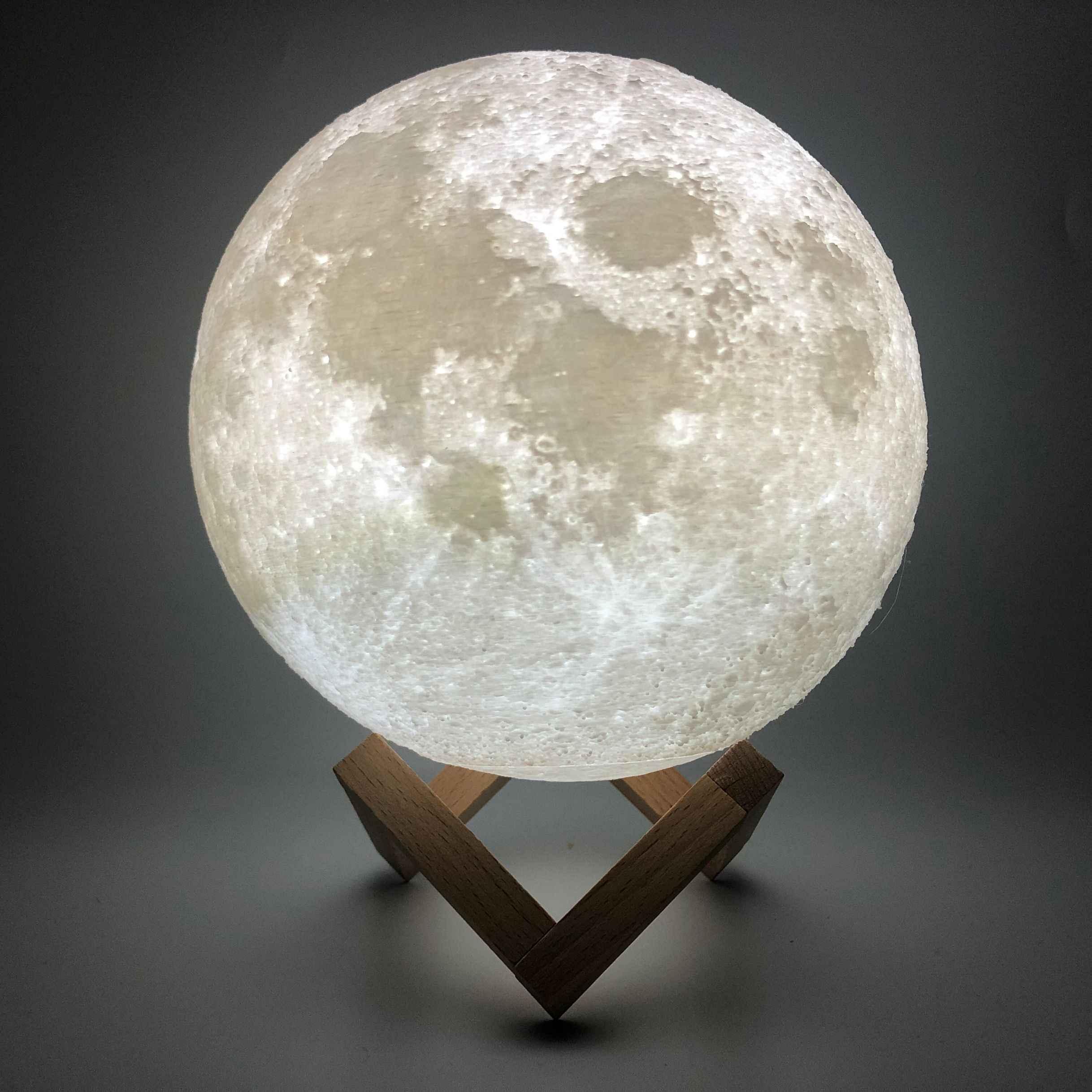 Новый дропшиппинг 3D печать Лунная лампа красочный сенсорный переключатель Usb свет проводимый ночной креативный подарок для украшения дома
