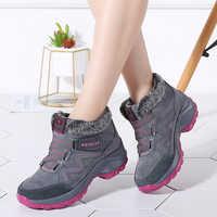Femmes hiver fourrure neige bottes plate-forme en cuir daim chaud pousser fourrure caoutchouc bottes Chaussure Femme chaussures Femme bottines 6139