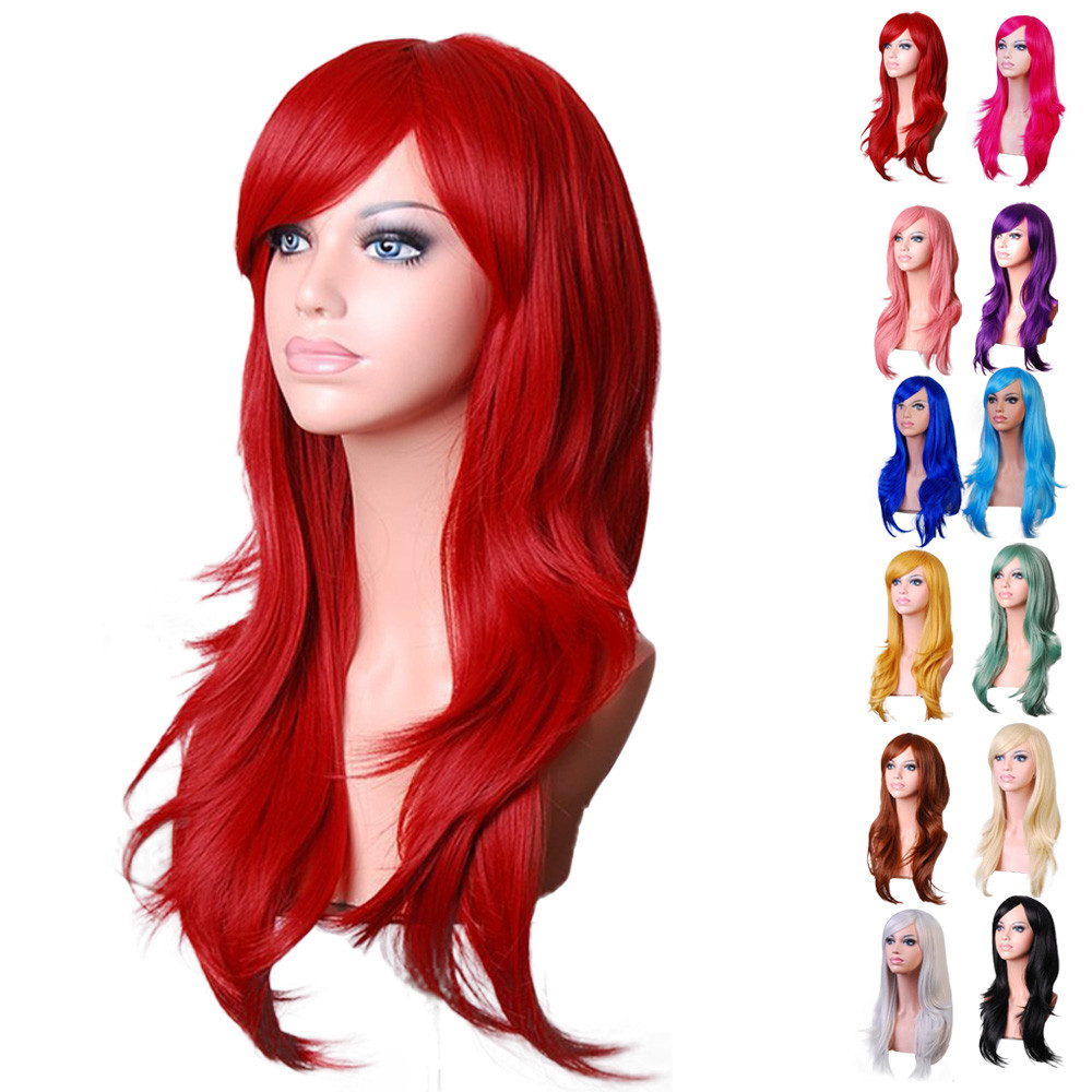Sexy Long wigs front lace Women Fashion Synthetic Wavy Cosplay Party Similar to Full short body wave wigs front lace 52223A