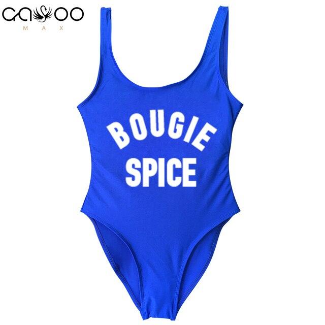 cf6b98400d1f4 BOUGIE SPICE 2018 Sexy Swimwear Women One Piece Swimsuit biquini Bodysuit  Swim Girls Wear bikini Lining Bodysuits badpak