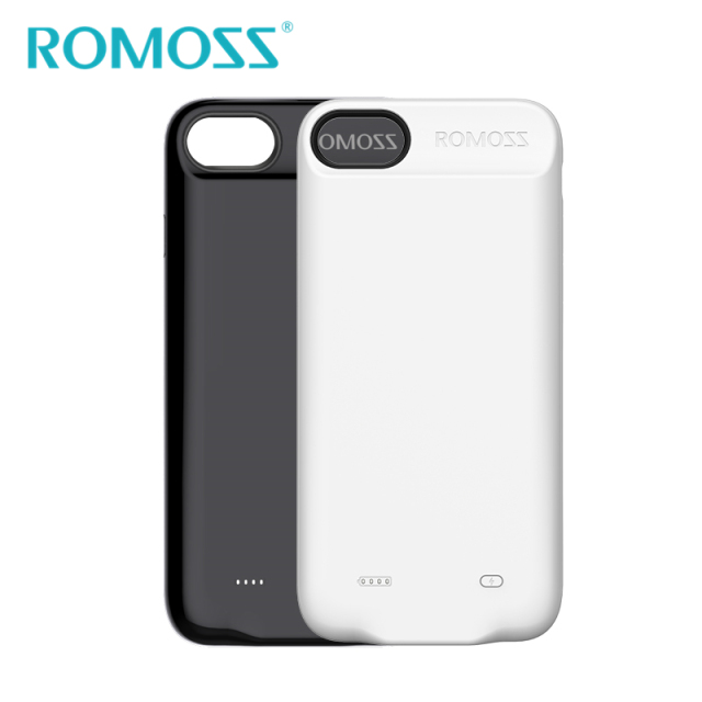 hot sale online a76df feaff 2017 New Original ROMOSS 2800mAh Power Case for iPhone 7 Silicon Shell  Power Bank Phone Backup Battery Case Protective Cover-in Power Bank from ...