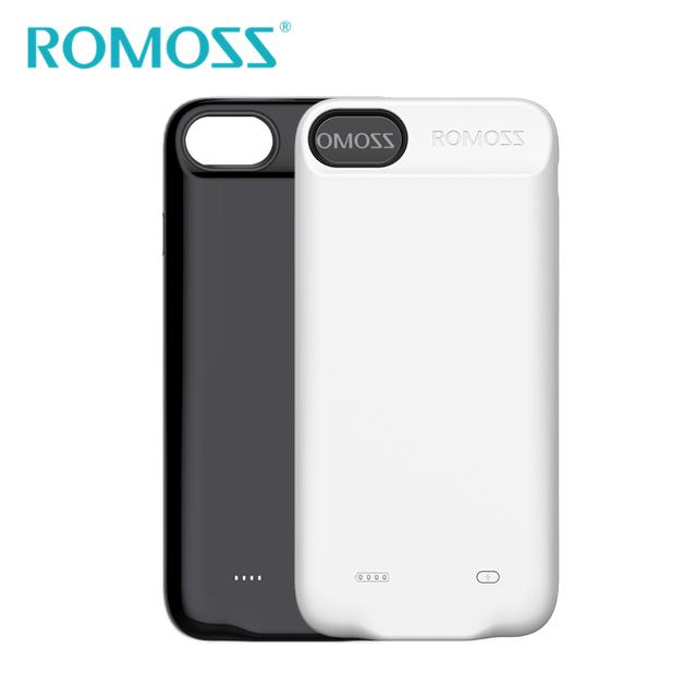 2017 nova original romoss 2800 mah caso de alimentação para iphone 7 silicone shell telefone banco de potência bateria de backup caso capa protetora