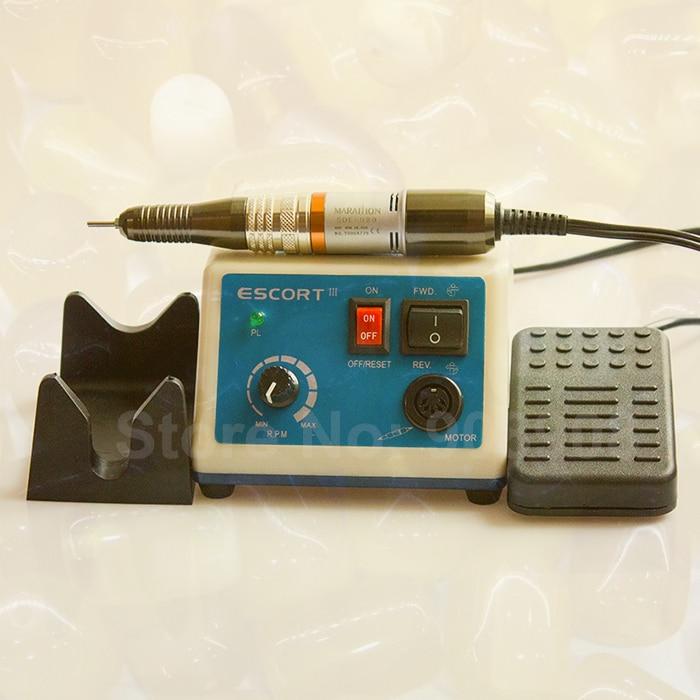 Incisione in metallo Manicure e Pedicure Nail File ESCORT III 30 k rpm Maratona SAEYANG Micromotore H20 Vite Driver Taglierina Elettrica