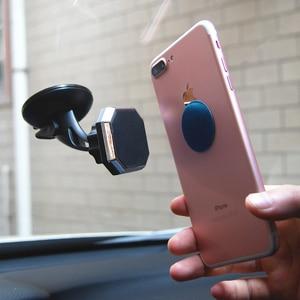Image 2 - ユニバーサル磁気カーホルダーフロントガラス自動車電話ホルダーマグネットスタンドマウントサポートgpsディスプレイブラケット 360 回転式ホルダー