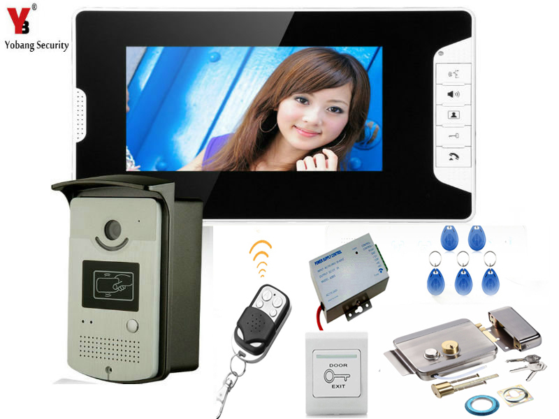 YobangSecurity Video Intercom 7 Inch Video Door Phone Doorbell Home font b Security b font Camera