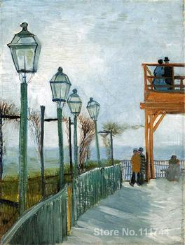 Belvedere Overlooking Montmartre Vincent Van Gogh famous paintings oil canvas reproduction High quality Hand painted
